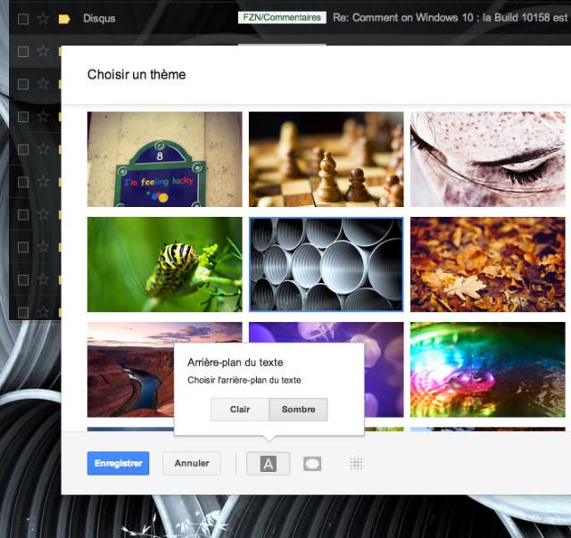 Modifier thème Gmail : capture 4