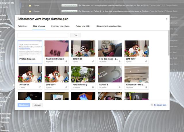 Modifier thème Gmail : capture 8