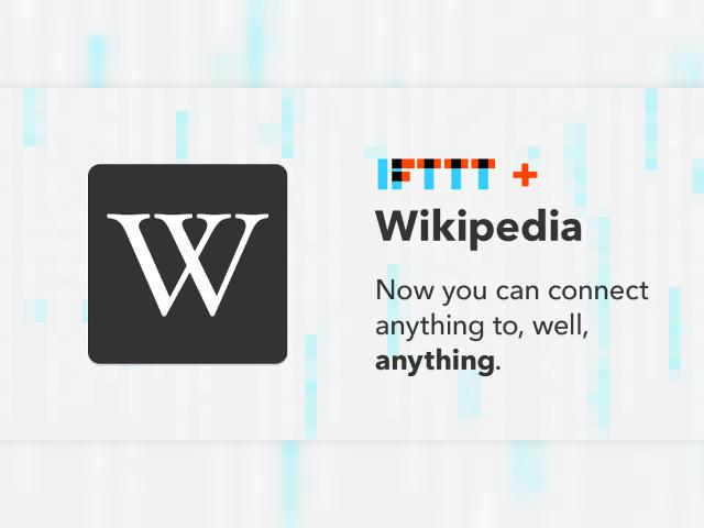 Wikipédia sur IFTTT