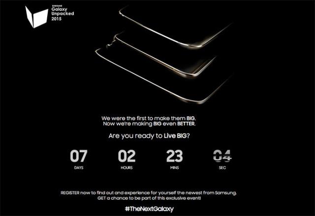 Samsung : un teaser pour le Galaxy Note 5, le Galaxy S6 Edge+ et... une tablette tactile !