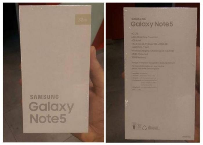 La boîte du Samsung Galaxy Note 5