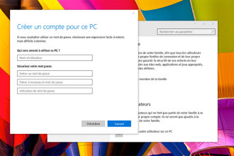 Créer compte local Windows 10