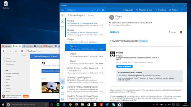 Fenêtres Windows 10