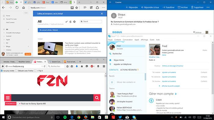 Fenêtres Windows 10 : capture 3