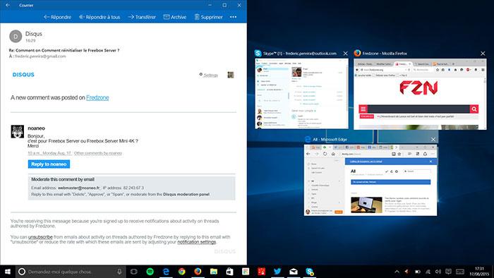 Fenêtres Windows 10 : capture 2