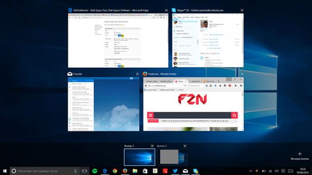 Windows 10 : la Task View