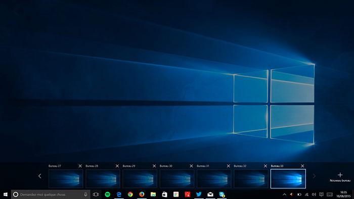 Windows 10 : la Task View 2