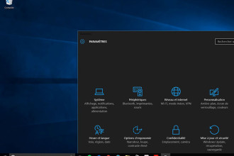 Thème sombre Windows 10