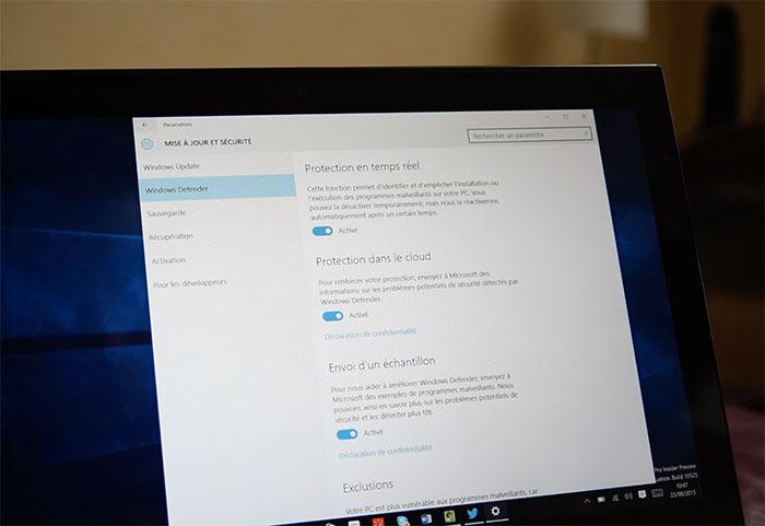 Windows 10 Paramètres : photo 20