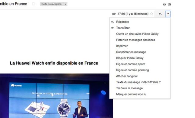 Capture blocage Gmail