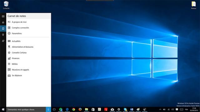 Cortana : capture 2