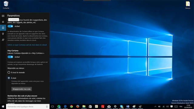 Cortana : capture 5