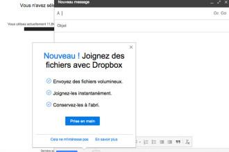 Dropbox dans Gmail