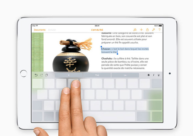 iOS 9 : clavier virtuel