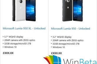 Leaks Lumia 950/950XL