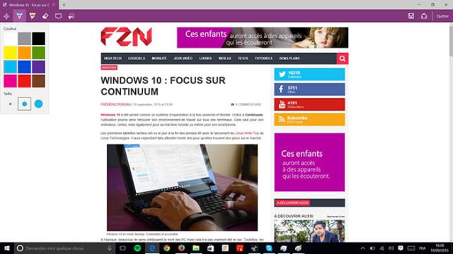 Microsoft Edge Annoter : image 1
