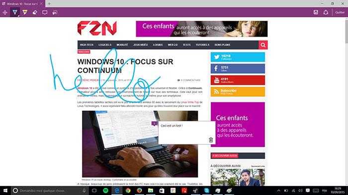 Microsoft Edge Annoter : image 2