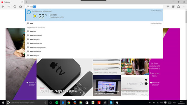 Microsoft Edge Cortana : image 1