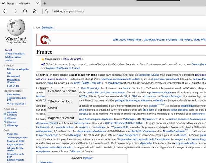 Microsoft Edge Cortana : image 2