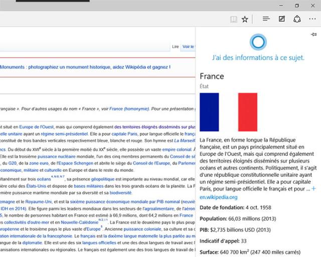 Microsoft Edge Cortana : image 3