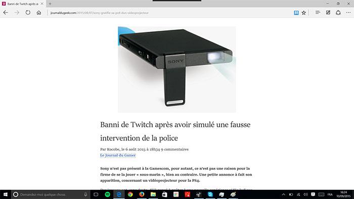 Microsoft Edge Lecteur : image 1