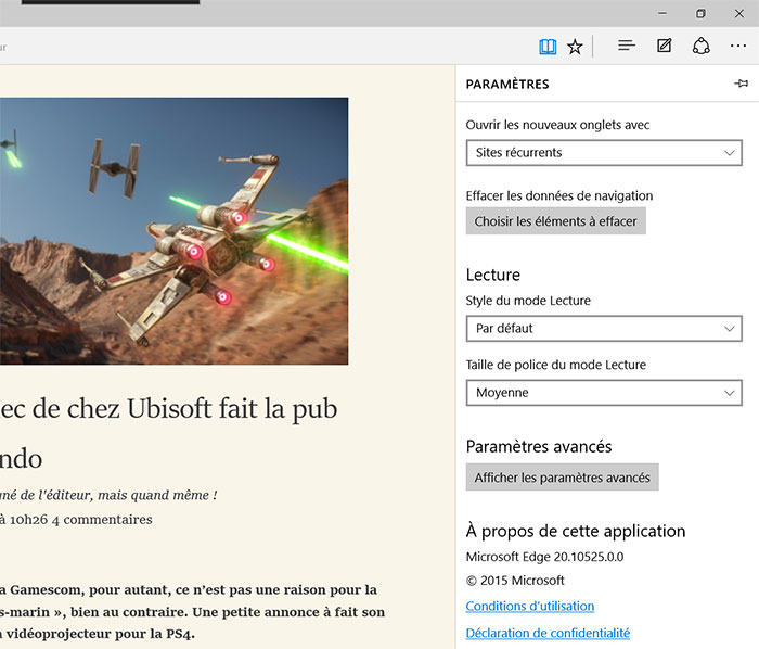 Microsoft Edge Lecteur : image 2