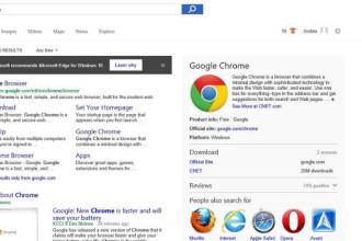 Pub de Edge dans Chrome