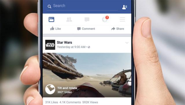 Vidéo 360° Facebook