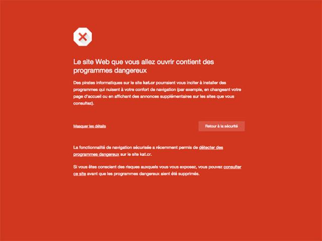 Avertissement KickassTorrents