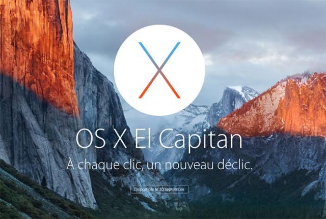 Clé installation OS X  El Capitan
