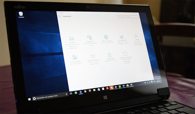 Panneau configuration Windows 10