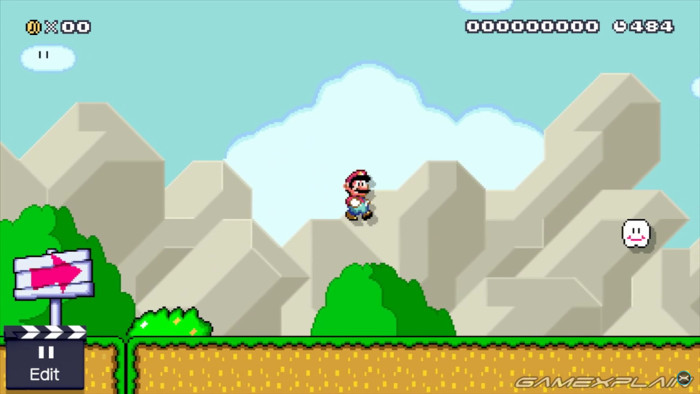 Plate-forme invisible de Super Mario Maker