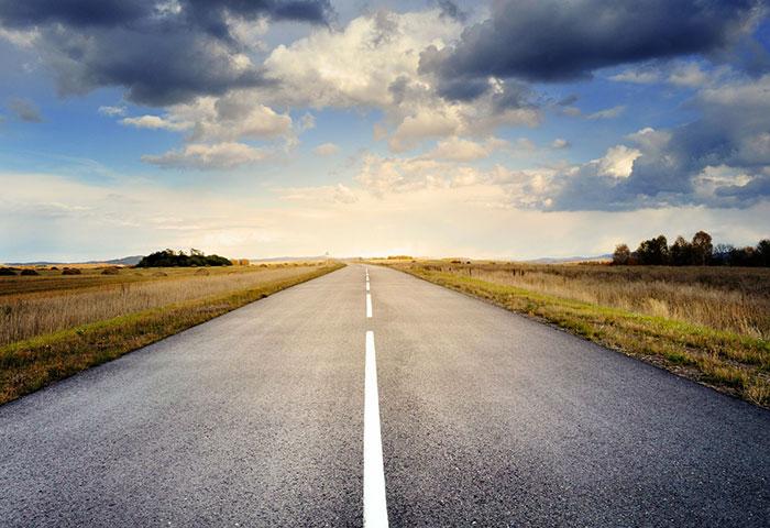 Cette route produit de l'électricité solaire !