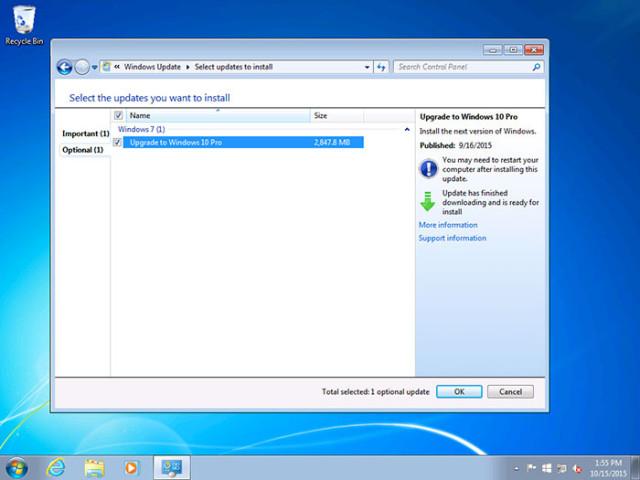 Installation automatique Windows 10