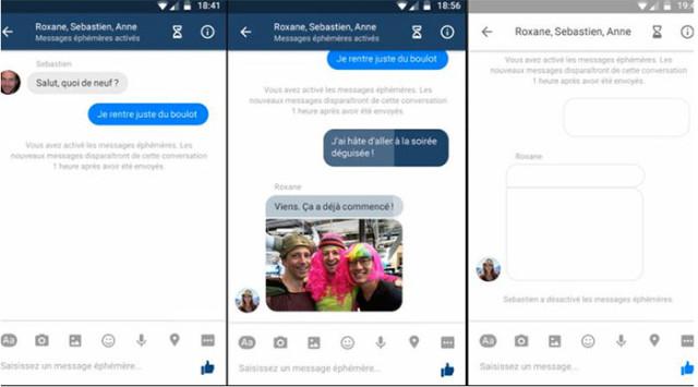 Capture messages éphémères Facebook Messenger