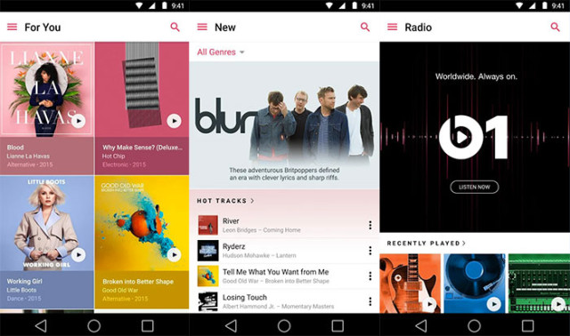 Captures Apple Music Android