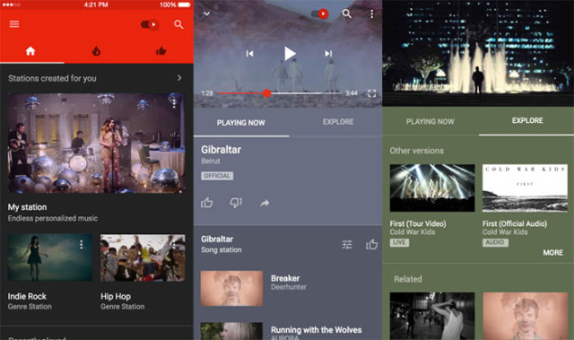 Captures YouTube Music