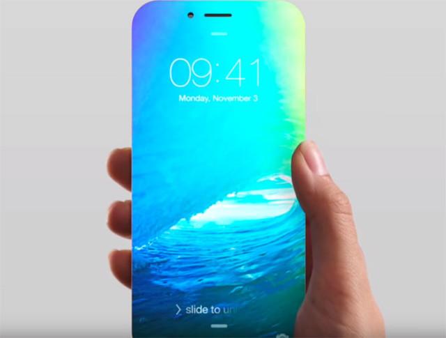 Concept iPhone 8 sans bordures