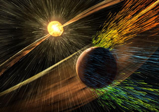 Mars vents solaires