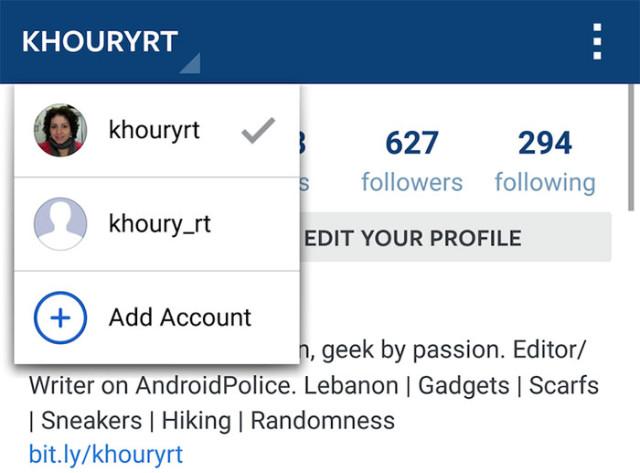 Capture Multi compte Instagram