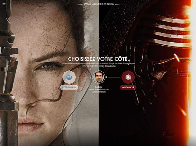 Outil Google Star Wars