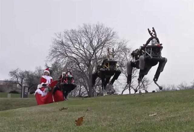 Vidéo Noël Boston Dynamics