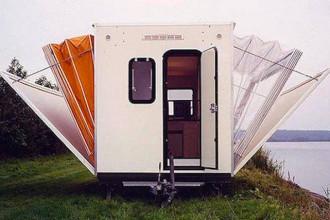 Caravane pliable