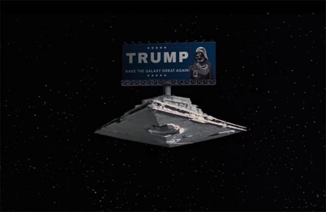 Donald Trump a joué dans Star Wars et il n'avait pas le rôle du gentil