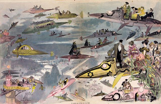 Voilà comment les artistes voyaient l'an 2000 en 1900