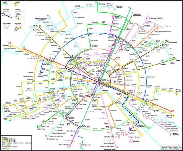 Carte métro Paris : image