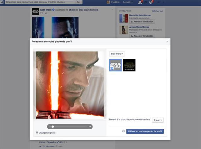 Personnalisation avatar Facebook