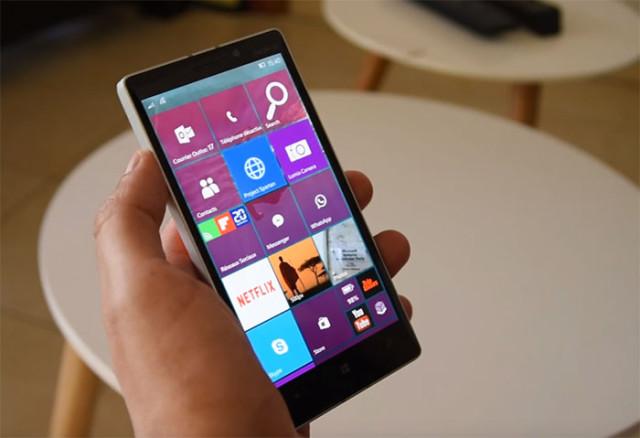 Retard Windows 10 Mobile