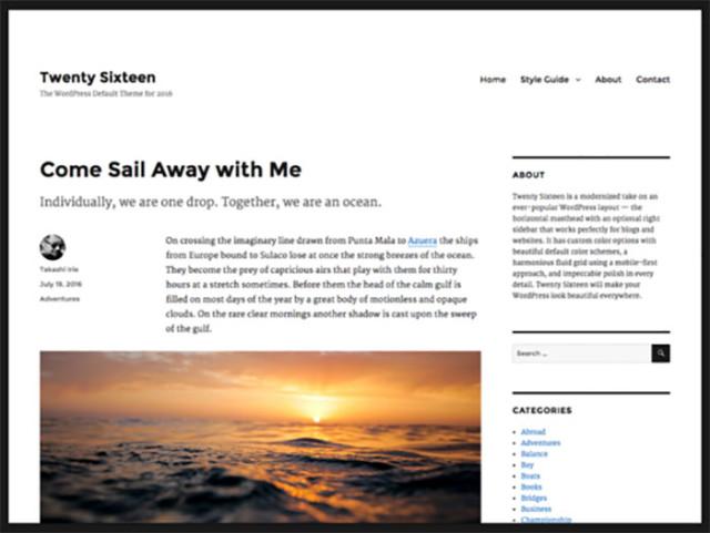 Wordpress 4.4 : image 1