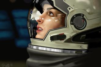 Anne Hathaway dessinée avec GIMP